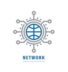 global network concept business logo design vector image