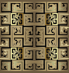 Gold checkered abstract old celtic style greek 3d vector