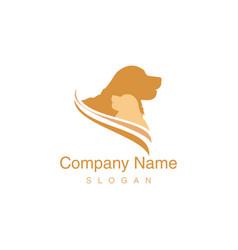 golden retriever logo vector image