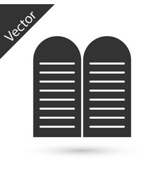 Grey the commandments icon isolated on white vector