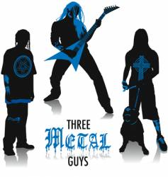 Heavy-metal silhouettes vector