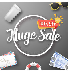 Huge sale poster vector