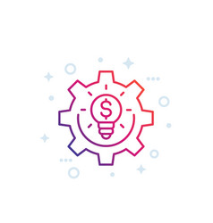Innovations fintech line icon on white vector
