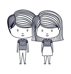 Isolated boy and girl cartoon design vector