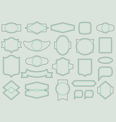 labels and frames seamless pattern vector image