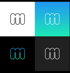 logo m linear logo of the letter m for vector image