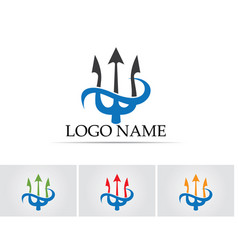 Magic trident logo and symbols template vector