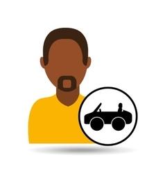 man icon car sport design vector image