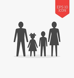 Man woman and children icon Family concept Flat vector image