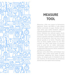 Measure tool line pattern concept vector