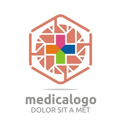 Medical hospital healthy emergency logo vector