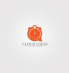 Modern clock logo template logo for business vector
