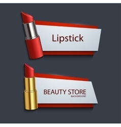 modern lipstick banners set vector image