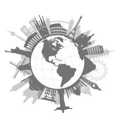 Monuments around world vector