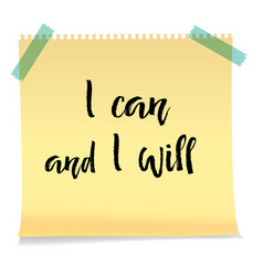 motivation text i can and i will isolated vector image
