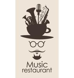 Music restaurant vector image