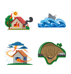 natural and disaster icon vector image