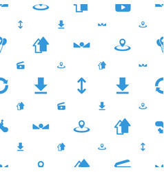 navigation icons pattern seamless white background vector image