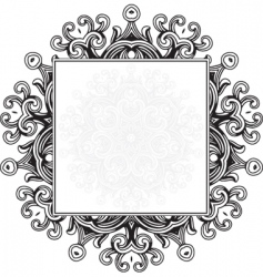 ornament frame vector image vector image