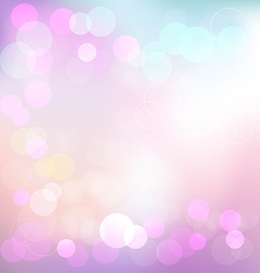 Pastel elegant abstract background with bokeh vector image