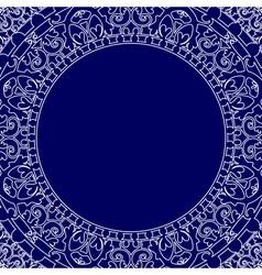 Porcelain style frame vector