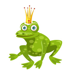 Princess frog icon cartoon style vector