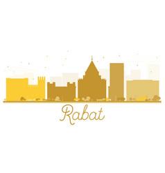 Rabat city skyline golden silhouette vector