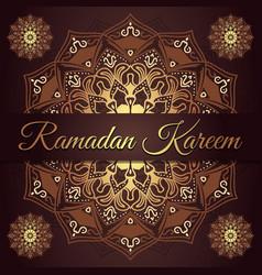 ramadan kareem greeting card design with red vector image