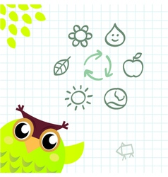 Recycle owl vector