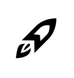 rocket icon in flat style icon for apps and vector image