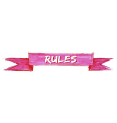 Rules ribbon vector
