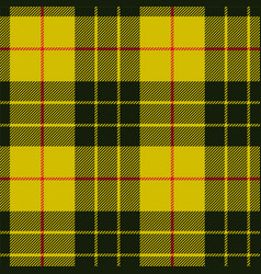 scottish plaid black bands on yellow macleod vector image