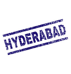 Scratched textured hyderabad stamp seal vector