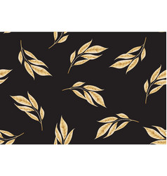 Seamless pattern consisting of gold plant branches vector