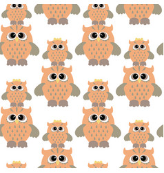 Seamless pattern with color owl vector
