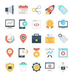 SEO and Marketing Icons 3 vector