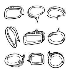 Set nine volume speech bubbles insert your own vector