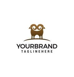 Sheep logo design concept template vector