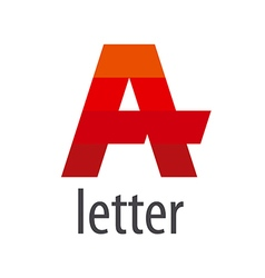 Striped logo red letter a vector