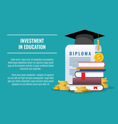 student education investment vector image