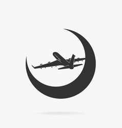 symbol passenger airplane in sky vector image