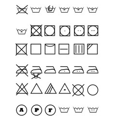 symbols for clothes vector image