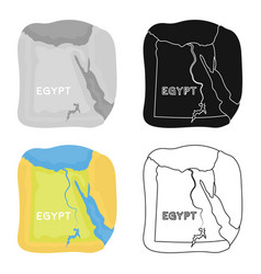 territory of egypt icon in cartoon style isolated vector image