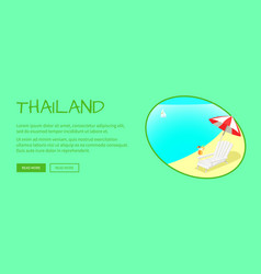 thailand touristic flat style web banner vector image