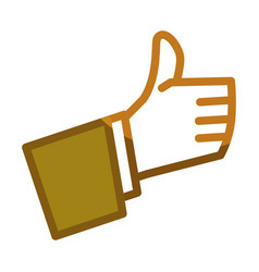 thumb up gesture line icon vector image