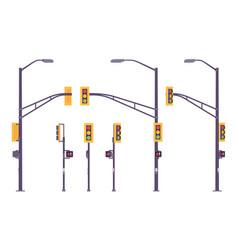 traffic light set vector image