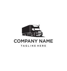truck logo design concept vector image