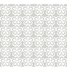 White floral lacy pattern vector