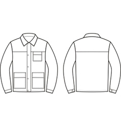 Work jacket vector