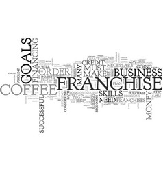 before you invest in a coffee franchise text word vector image